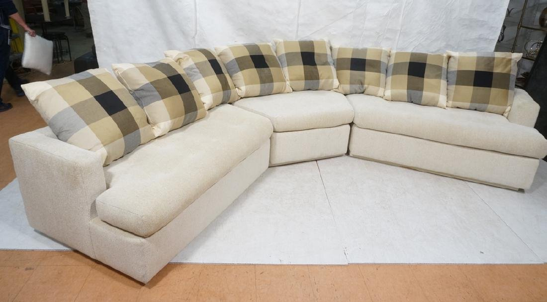 3 part Sectional Seating Sofa Couch. 2 single arm