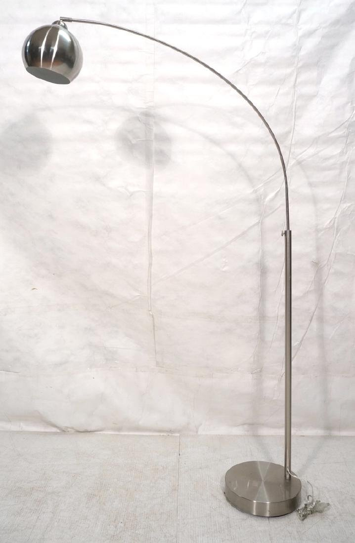 Modernist Arched Floor Lamp. Adjustable height on