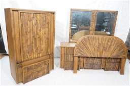 4pc PAUL EVANS Style for LANE Brutalist Dressers.