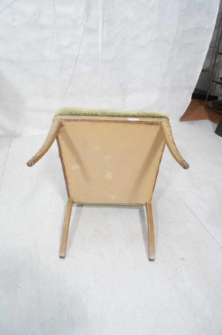 Pr Decorator Tufted Velvet Arm Chairs. Tall backs - 10