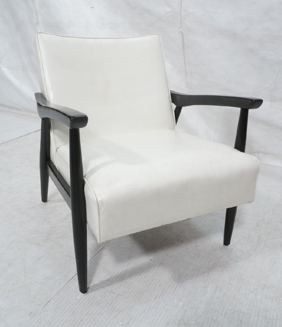 BAUMRITTER Ebonized Arm Lounge Chair. Ebonized fr