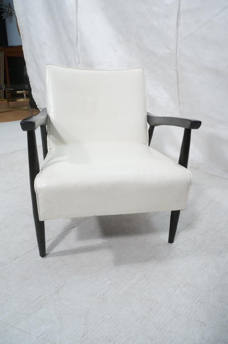 BAUMRITTER Ebonized Arm Lounge Chair. Ebonized fr - 2