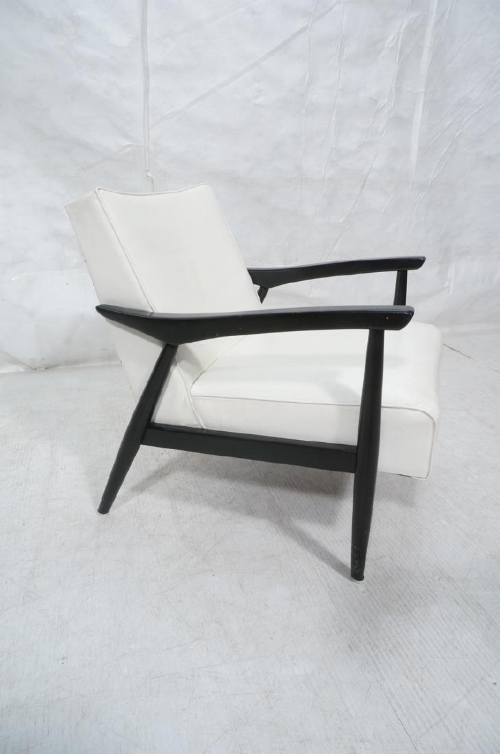 BAUMRITTER Ebonized Arm Lounge Chair. Ebonized fr - 3