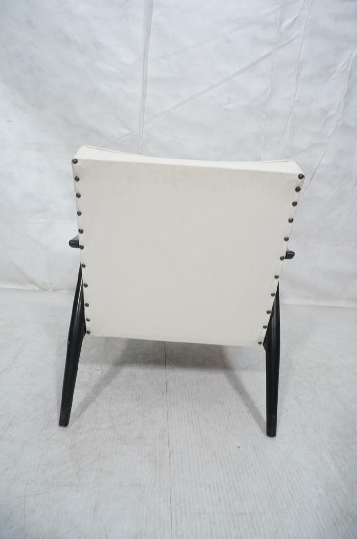 BAUMRITTER Ebonized Arm Lounge Chair. Ebonized fr - 4