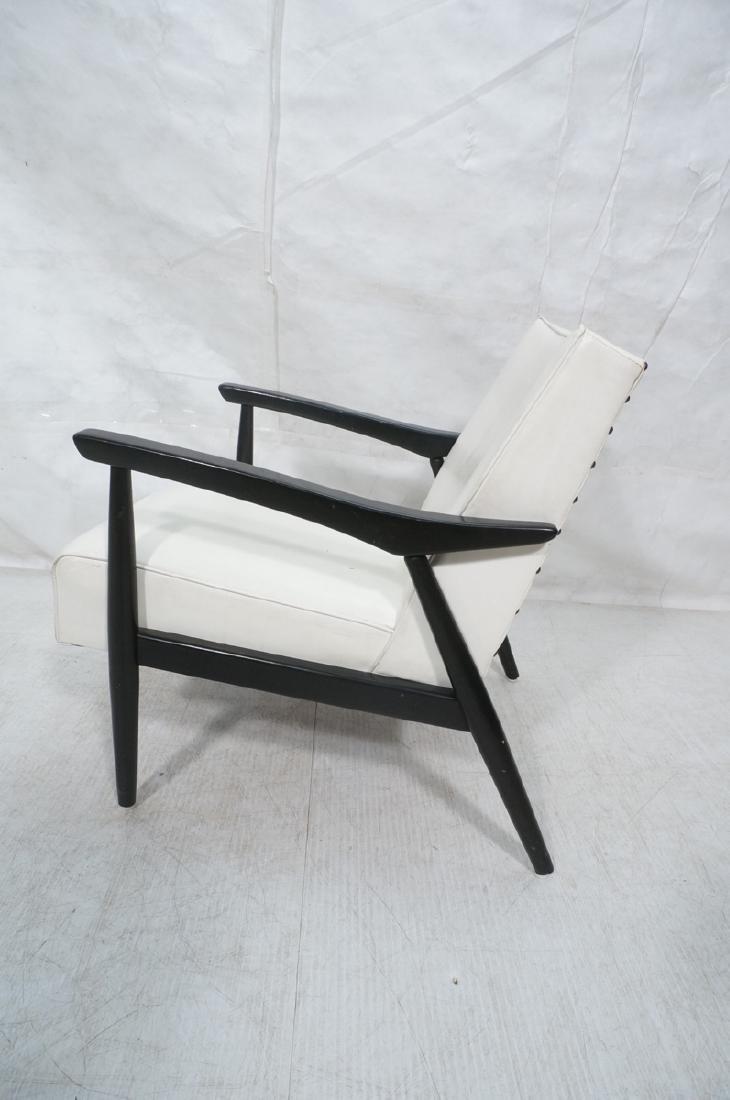 BAUMRITTER Ebonized Arm Lounge Chair. Ebonized fr - 5