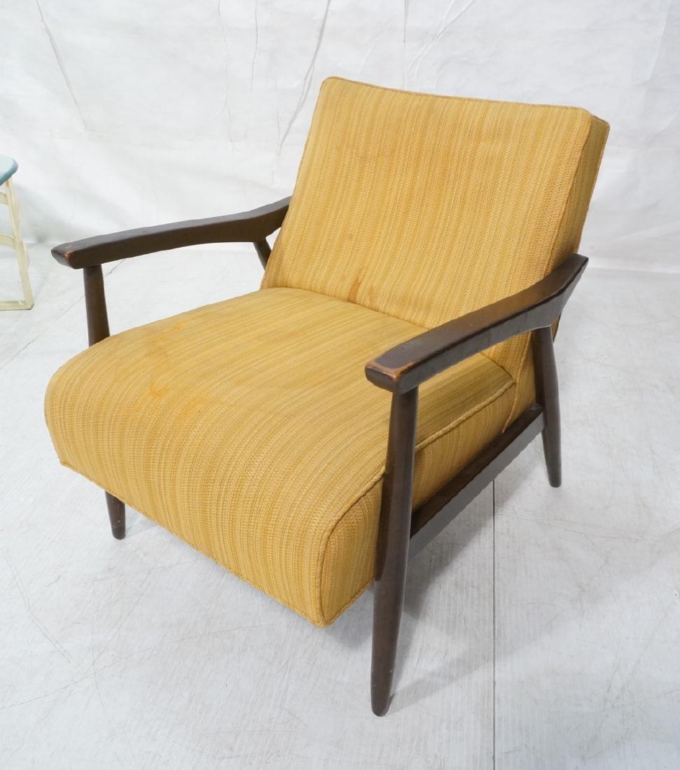 BAUMRITTER Open Arm Lounge Chair. Dark brown fram