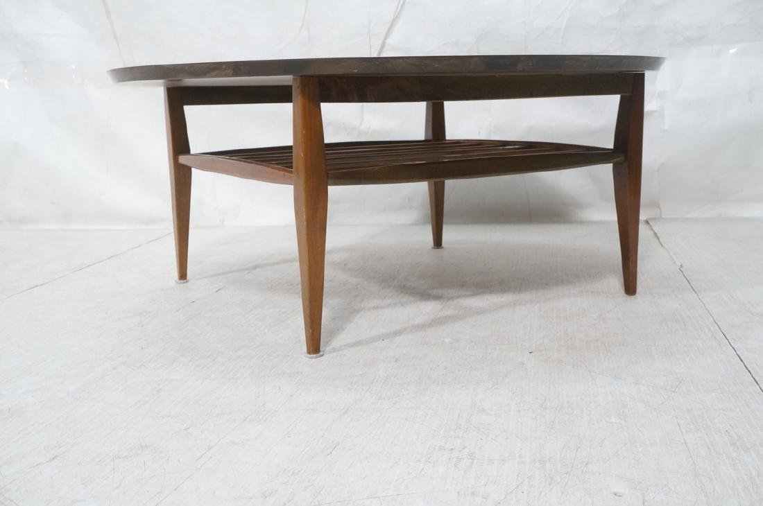 Round White Laminate Top Coffee Table. Square dow - 2