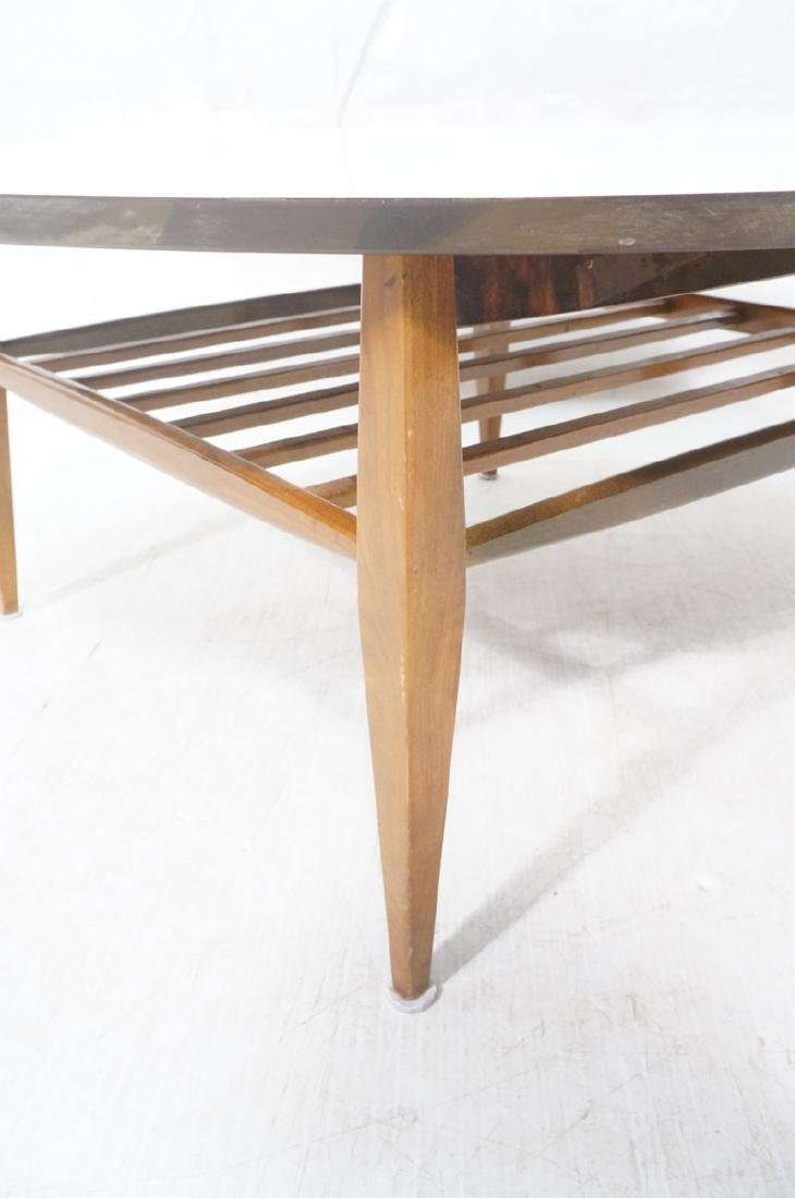 Round White Laminate Top Coffee Table. Square dow - 6