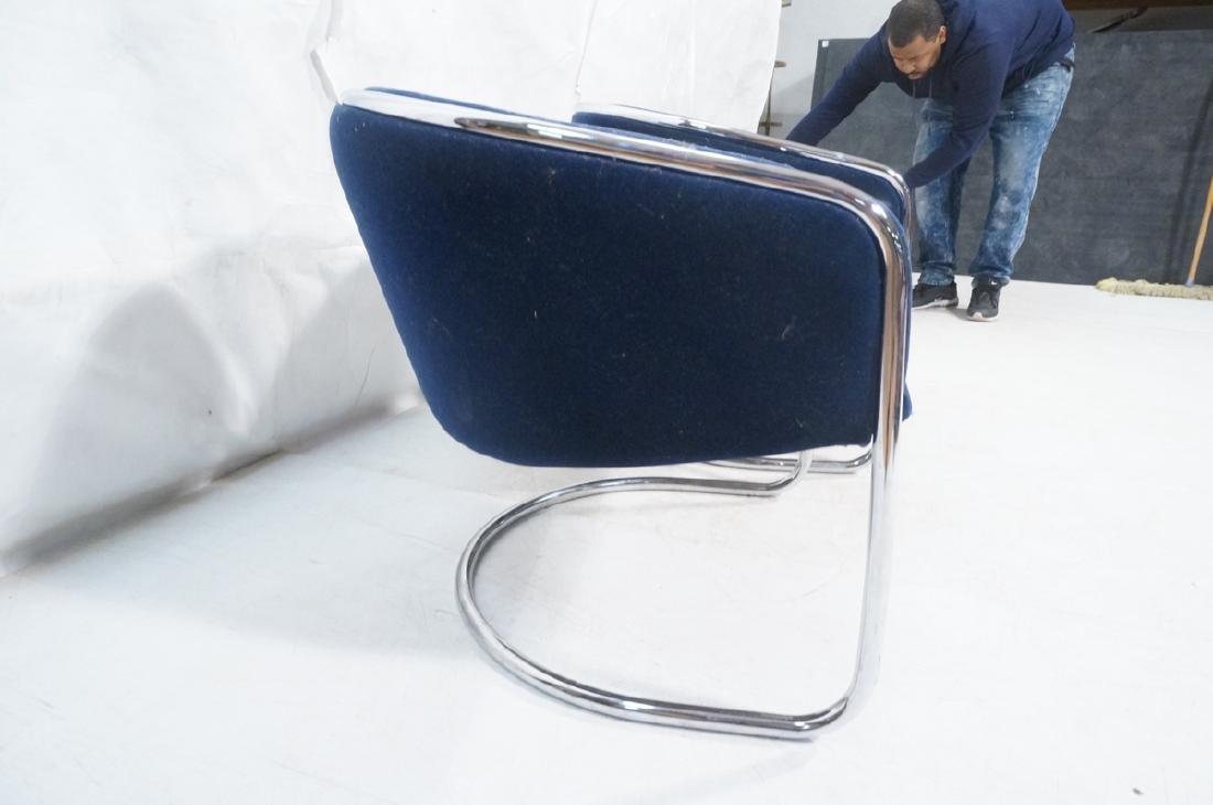 Pr THONET Chrome Frame Modernist Lounge Chairs. R - 4