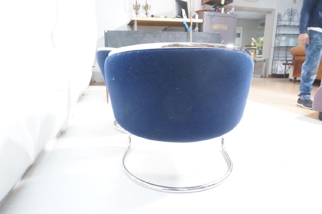 Pr THONET Chrome Frame Modernist Lounge Chairs. R - 5