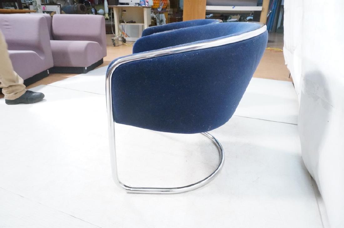 Pr THONET Chrome Frame Modernist Lounge Chairs. R - 6