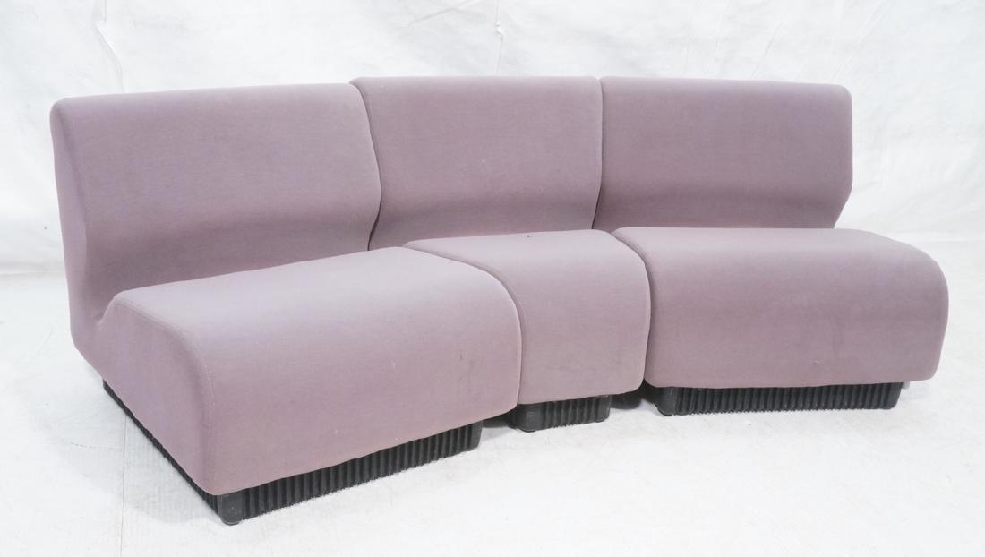 3pc HERMAN MILLER Modular Seating Sectional Sofa