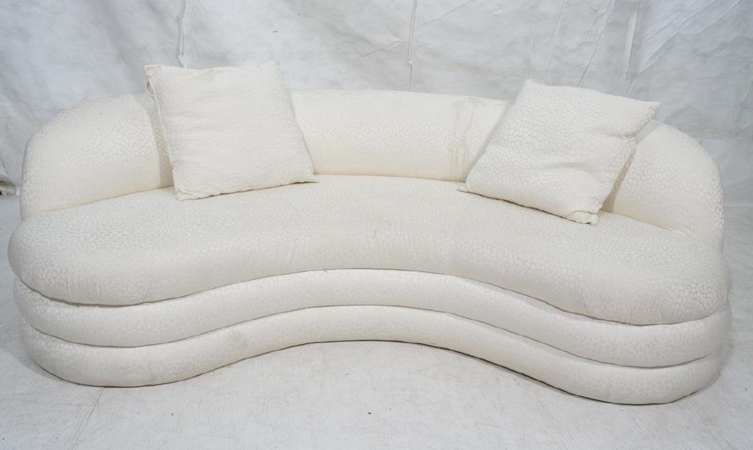 Directional Curved Sofa Possibly Paul Evans or Ka