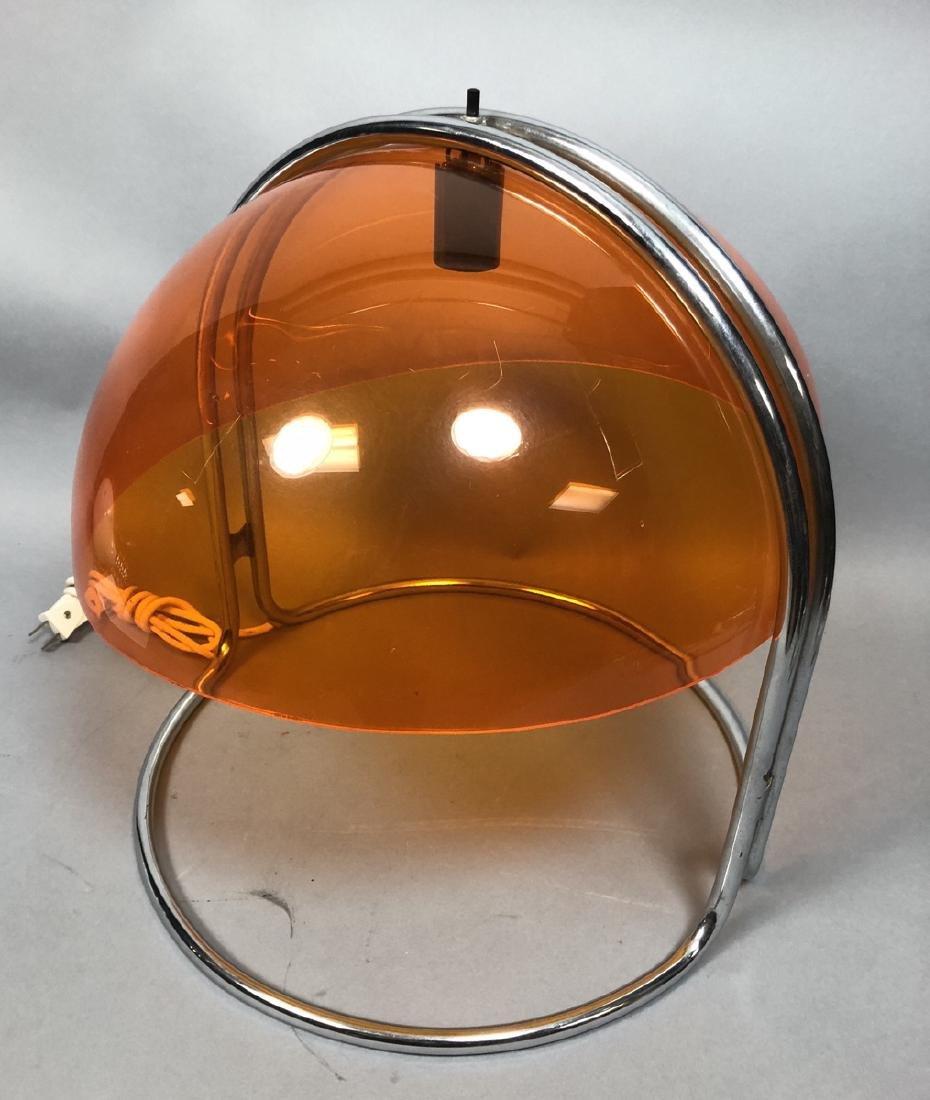 Italian Style Chrome and Acrylic Table Lamp.  Tra