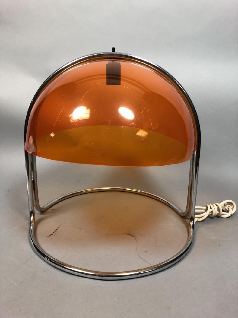 Italian Style Chrome and Acrylic Table Lamp.  Tra - 4