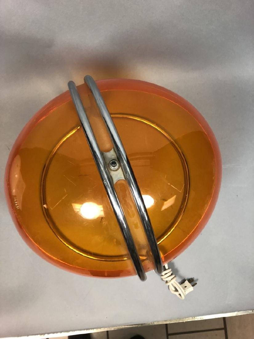 Italian Style Chrome and Acrylic Table Lamp.  Tra - 6
