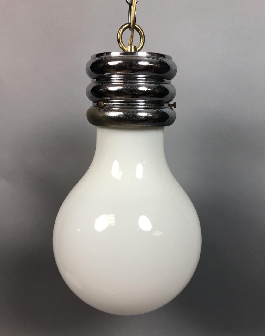 Vintage Modern Bulb Chandelier.  Oversized Glass