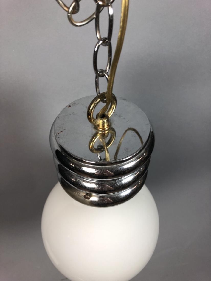 Vintage Modern Bulb Chandelier.  Oversized Glass - 4