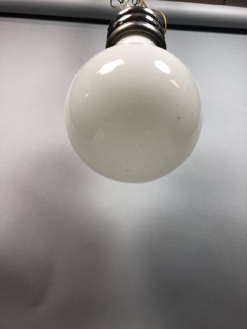 Vintage Modern Bulb Chandelier.  Oversized Glass - 5