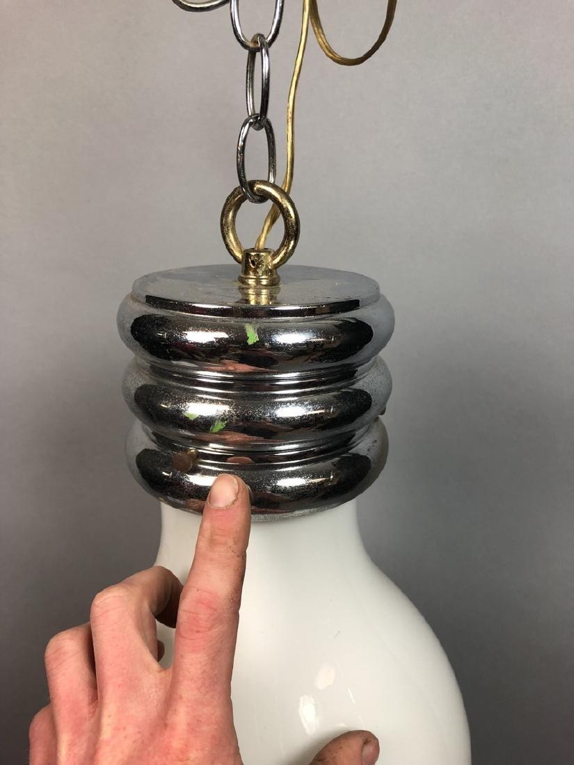 Vintage Modern Bulb Chandelier.  Oversized Glass - 6