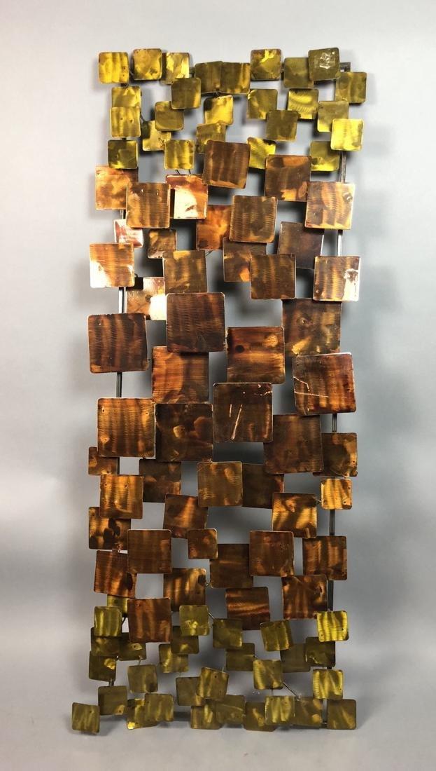 Modernist Mixed Metal Wall Sculpture. Different s