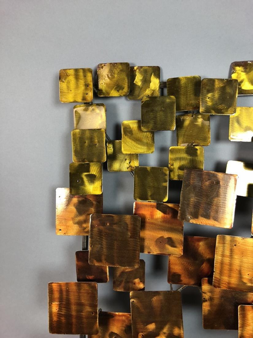 Modernist Mixed Metal Wall Sculpture. Different s - 2