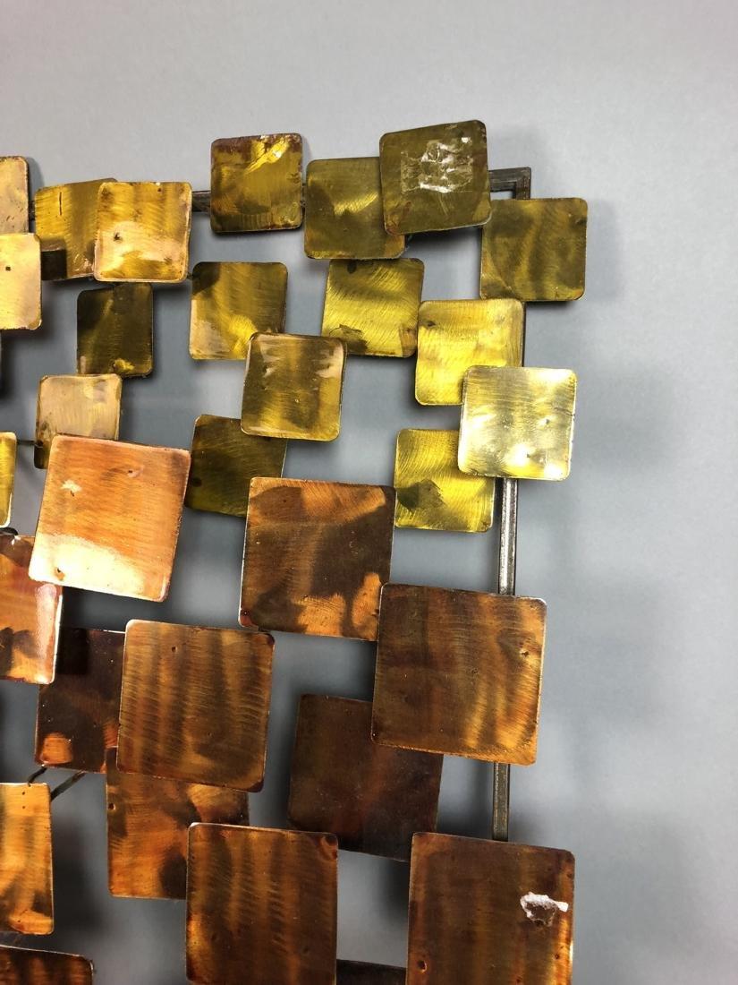 Modernist Mixed Metal Wall Sculpture. Different s - 3