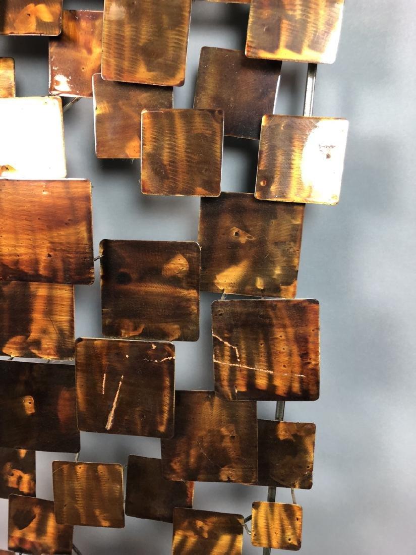 Modernist Mixed Metal Wall Sculpture. Different s - 4