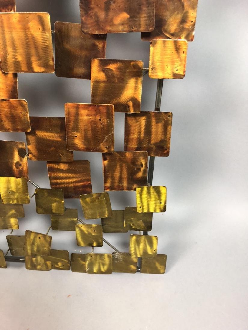 Modernist Mixed Metal Wall Sculpture. Different s - 6