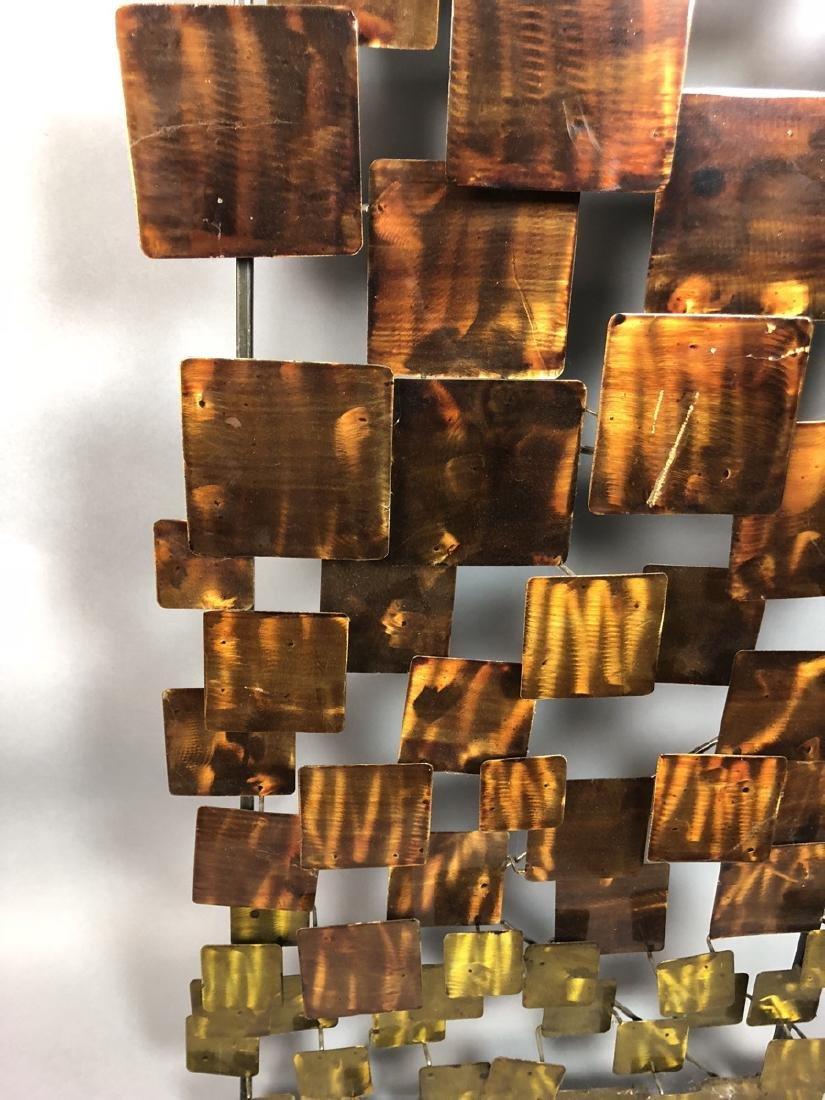 Modernist Mixed Metal Wall Sculpture. Different s - 8