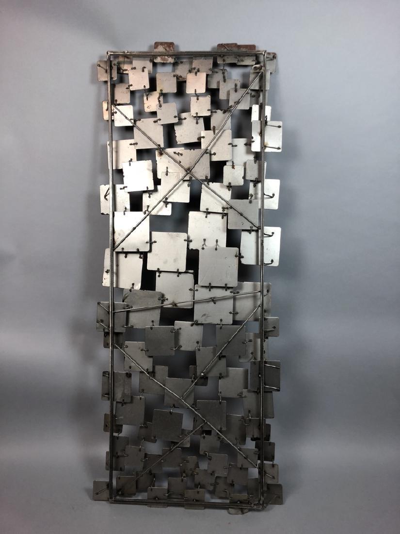Modernist Mixed Metal Wall Sculpture. Different s - 9