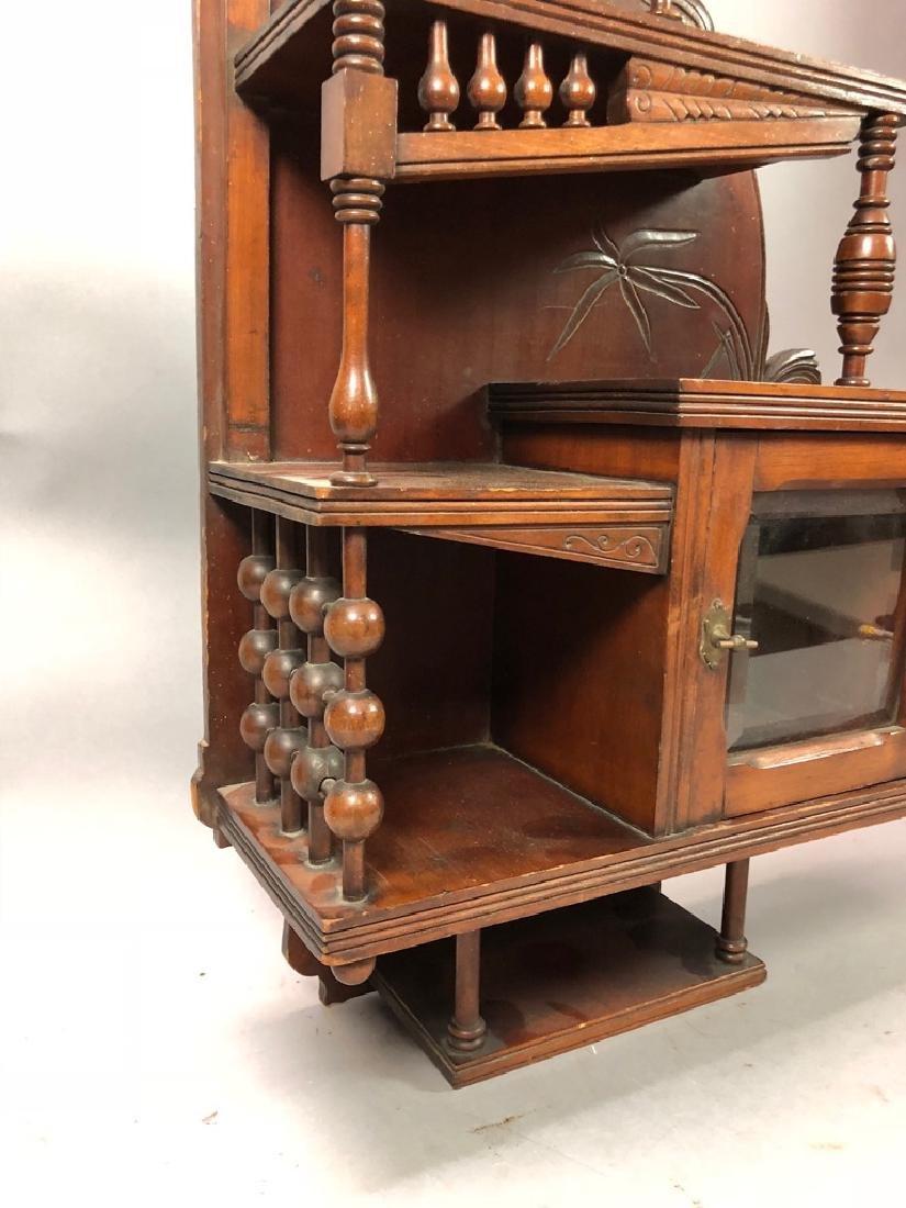 Walnut Victorian What Not Display Shelf. Multiple - 3