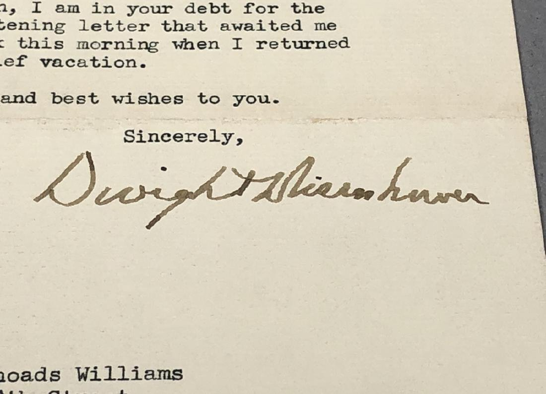 Signed Dwight Eisenhower, Typed Note, Autograph 4