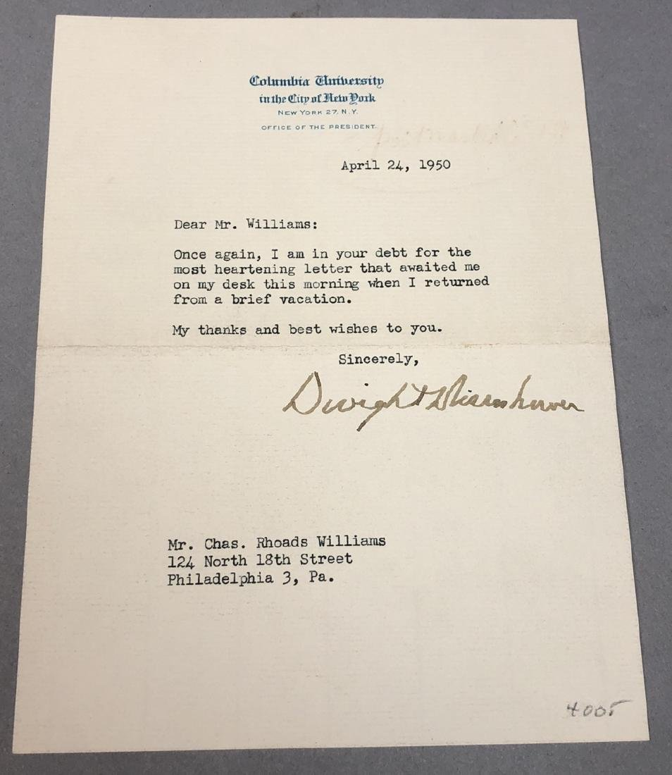 Signed Dwight Eisenhower, Typed Note, Autograph 4 - 2