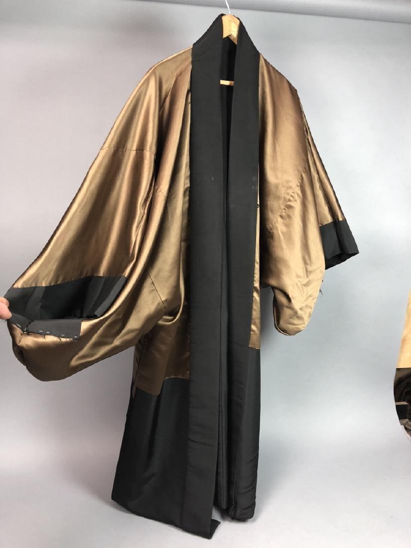 Vintage Japanese Haori Kimono. Black robe. Interi - 5