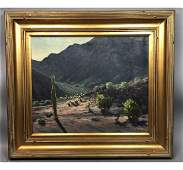 LAVAUN B CURTIS Landscape Oil Painting. Arizona L