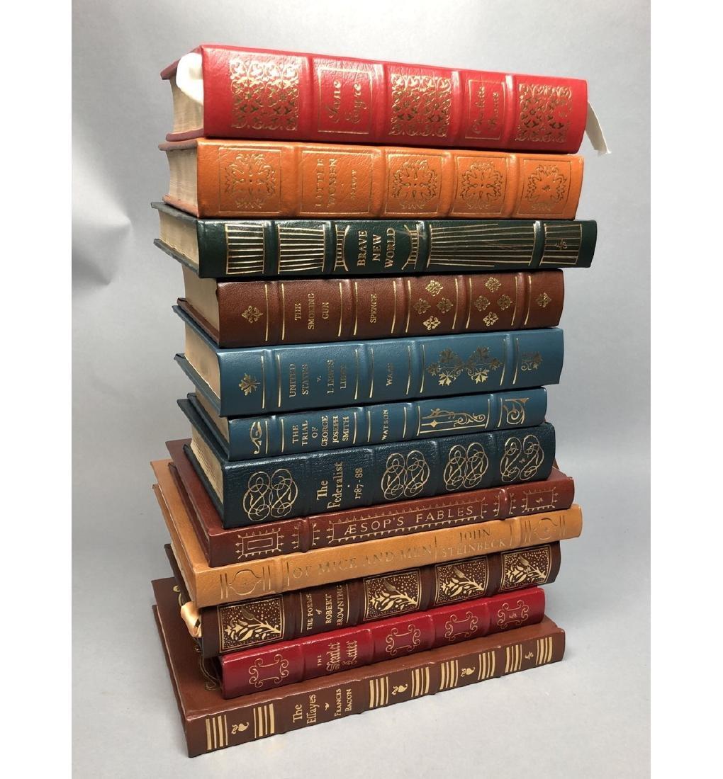 "Lot 12 Leather Bound Books. EASTON PRESS Inc ""Bra"