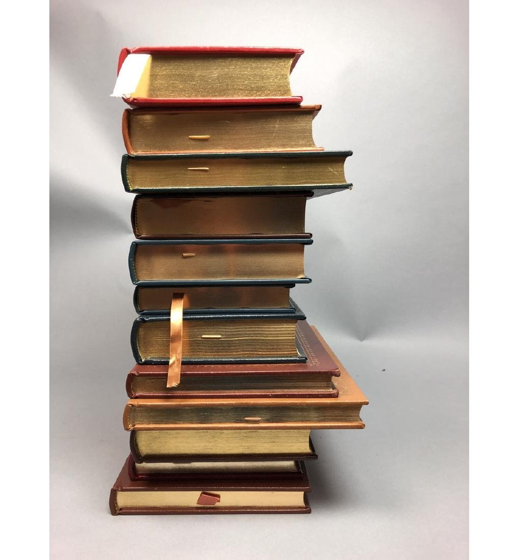 "Lot 12 Leather Bound Books. EASTON PRESS Inc ""Bra - 4"