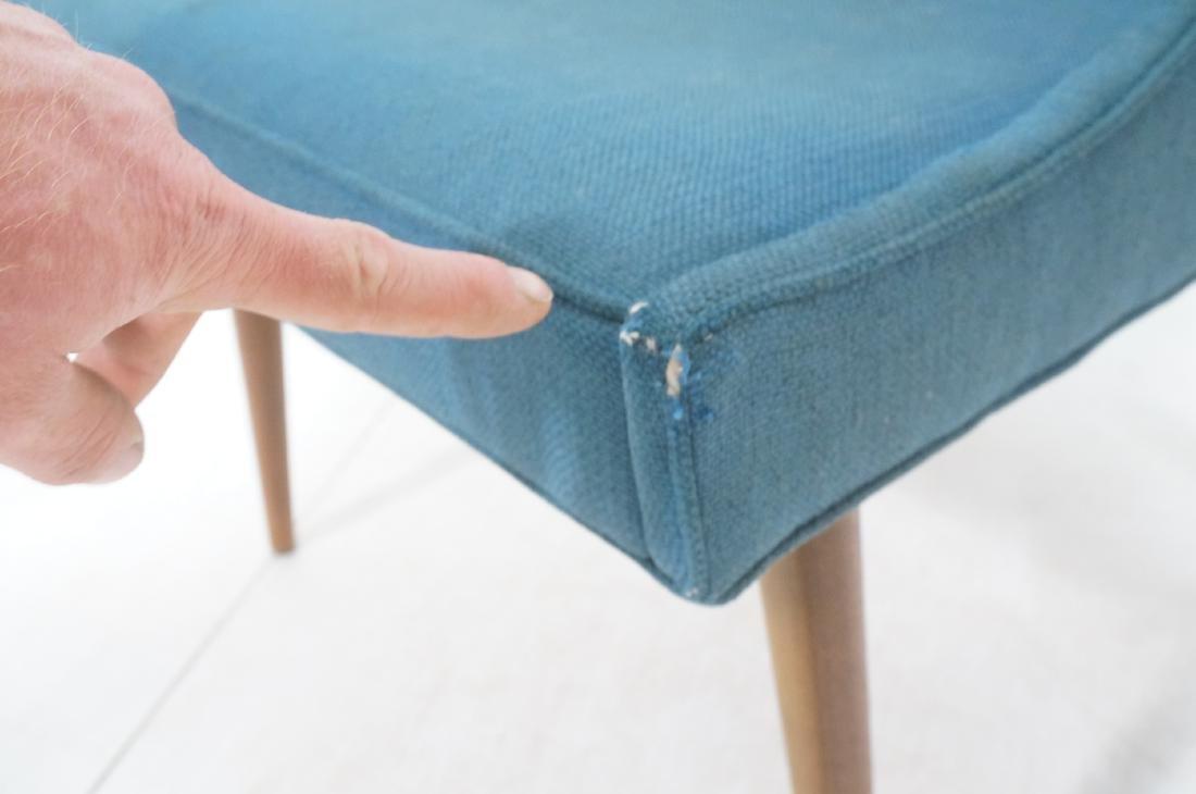 Pr THAYER COGGIN Modernist Blue Slipper  Chairs. - 10