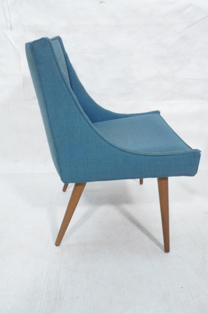 Pr THAYER COGGIN Modernist Blue Slipper  Chairs. - 3