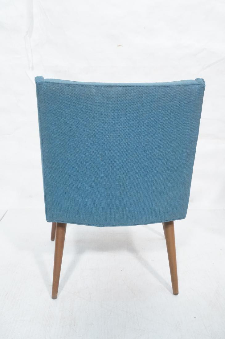 Pr THAYER COGGIN Modernist Blue Slipper  Chairs. - 4