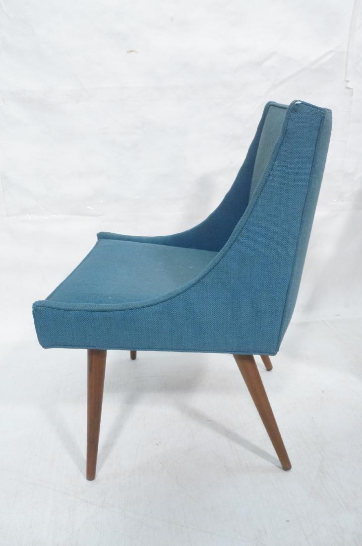 Pr THAYER COGGIN Modernist Blue Slipper  Chairs. - 5