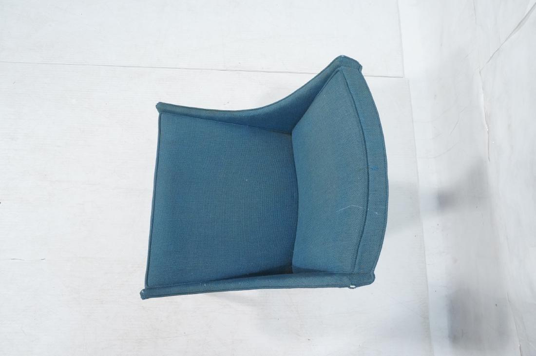 Pr THAYER COGGIN Modernist Blue Slipper  Chairs. - 6