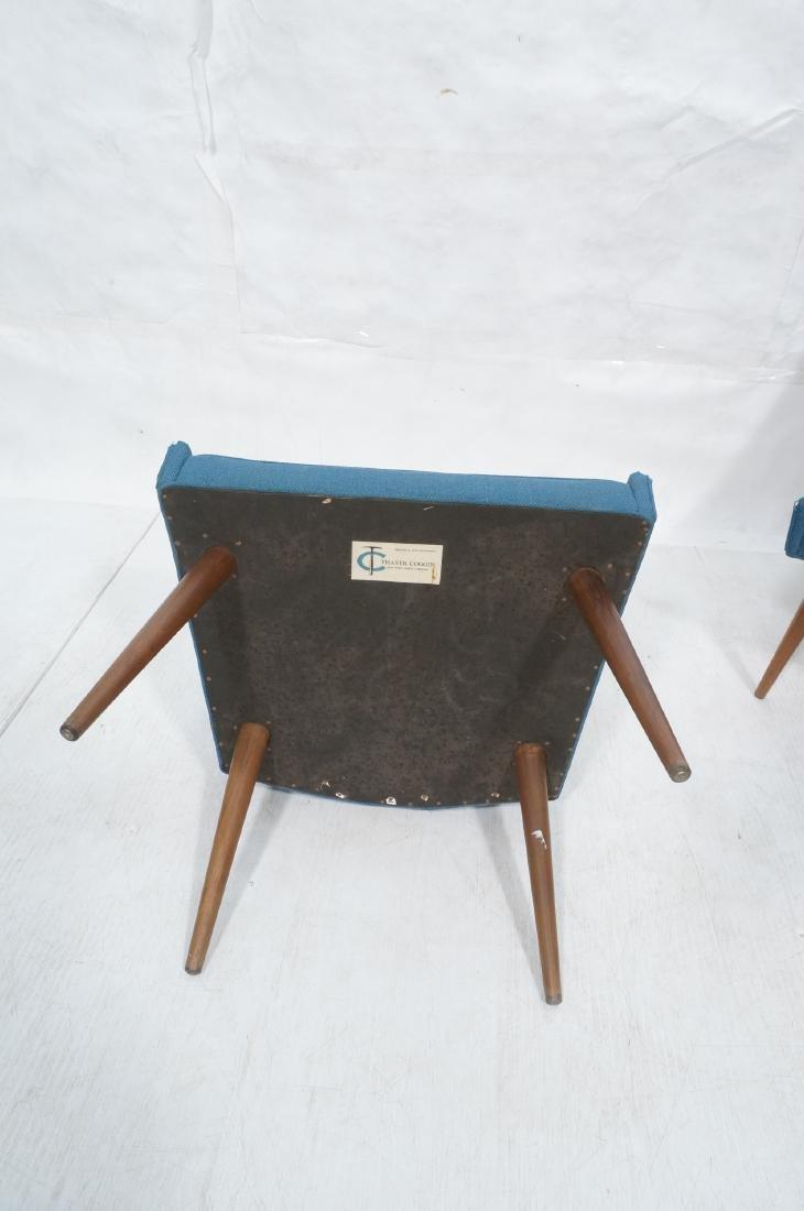 Pr THAYER COGGIN Modernist Blue Slipper  Chairs. - 7