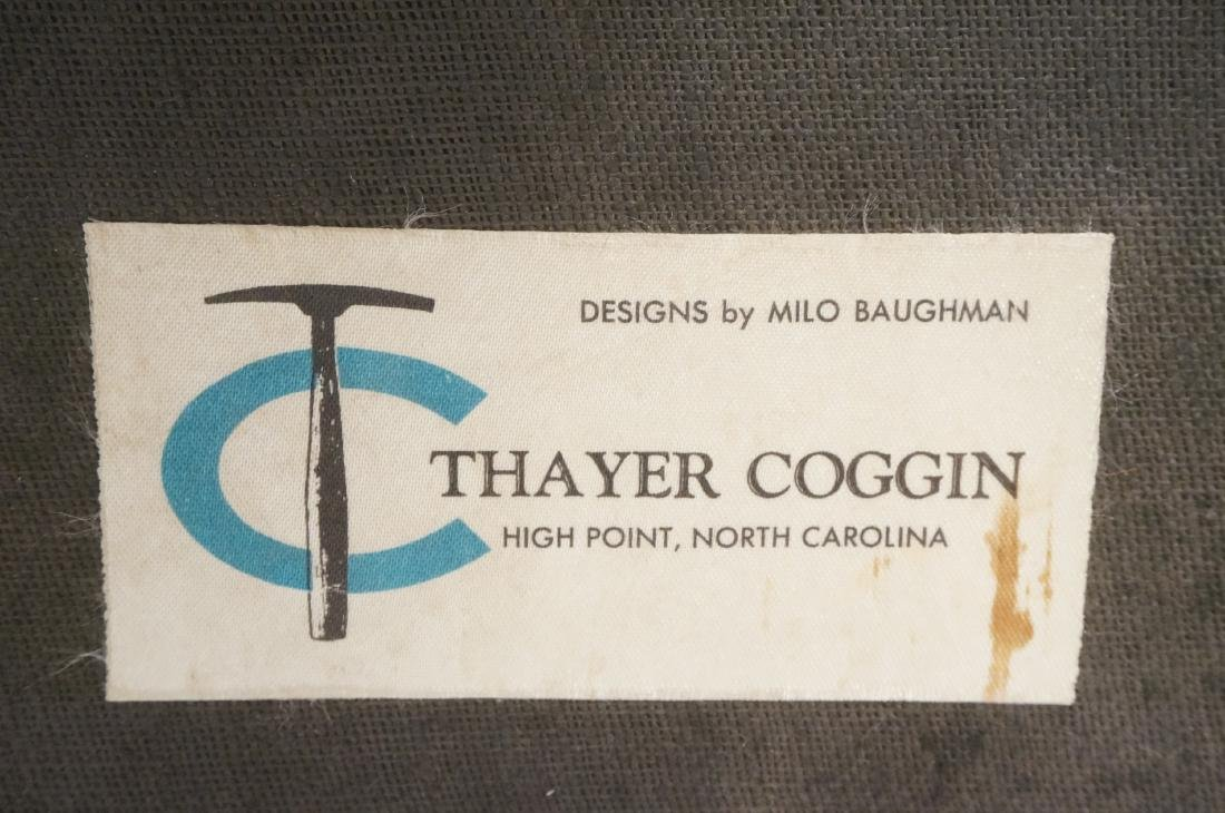 Pr THAYER COGGIN Modernist Blue Slipper  Chairs. - 8