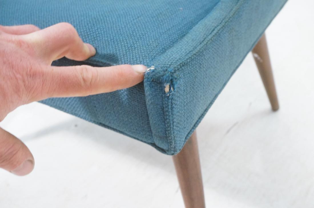 Pr THAYER COGGIN Modernist Blue Slipper  Chairs. - 9