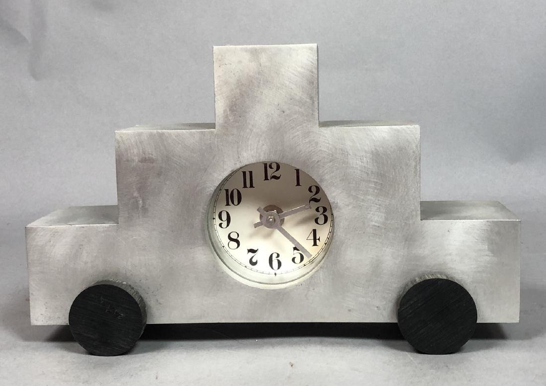 GODLEY SCHWAN Modernist Memphis Aluminum Clock.