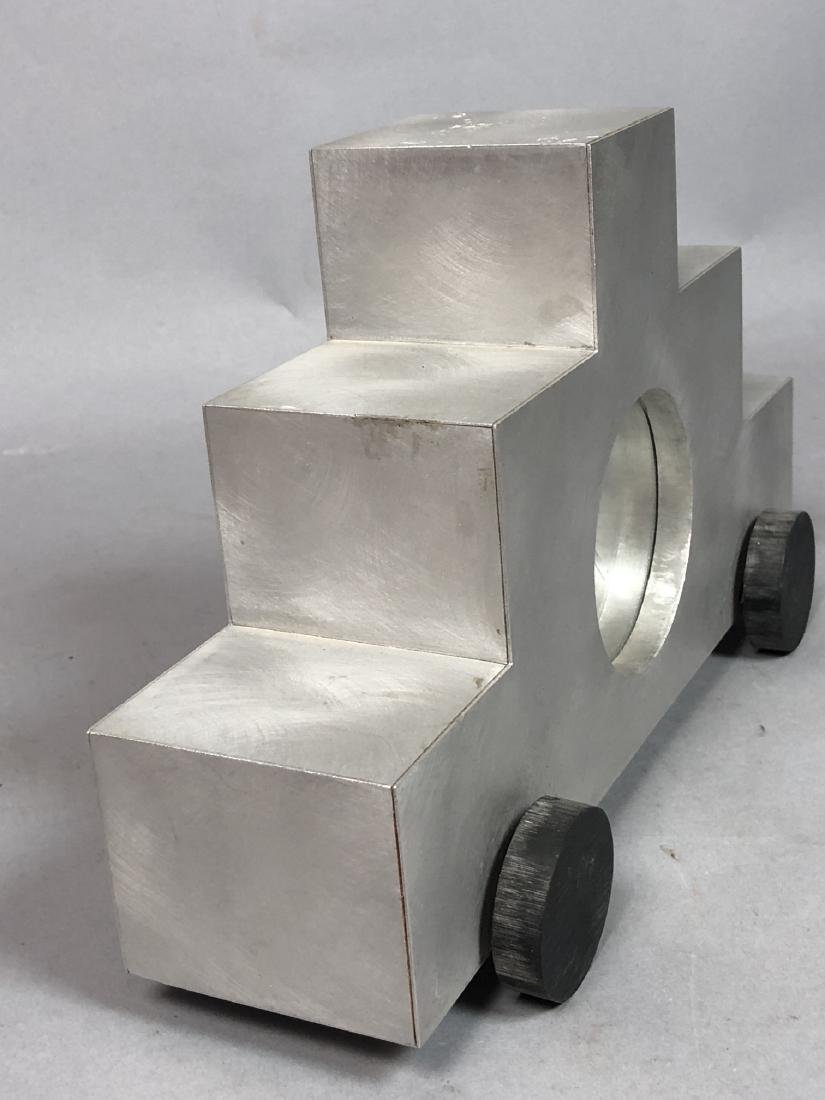 GODLEY SCHWAN Modernist Memphis Aluminum Clock. - 2