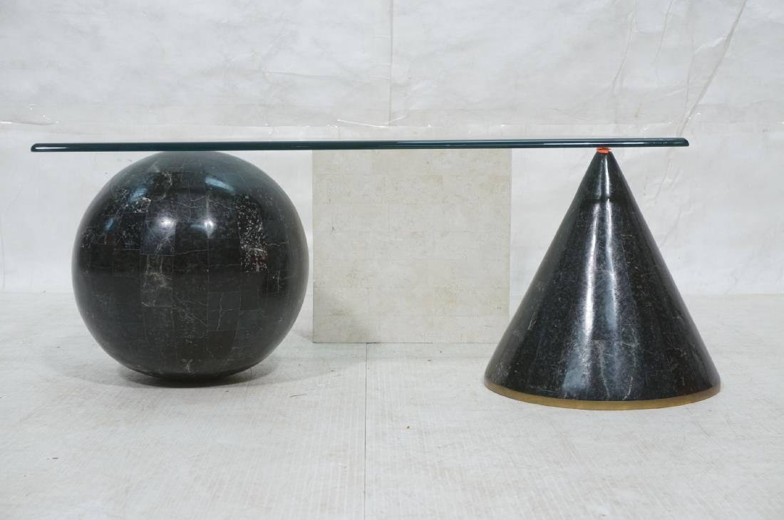Memphis style Square Glass Top Cocktail Table. Gl - 2