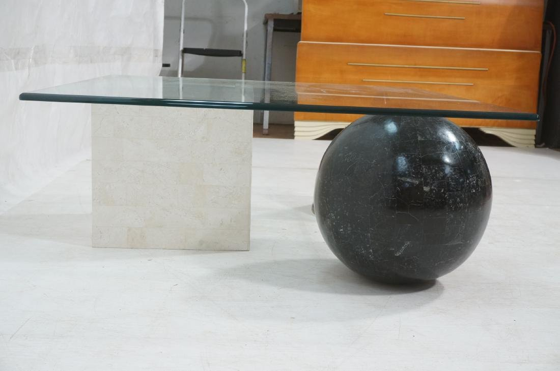 Memphis style Square Glass Top Cocktail Table. Gl - 3